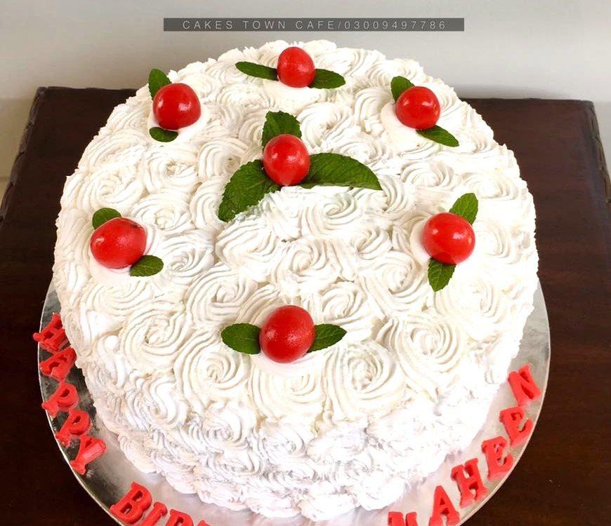 Cream Birthday Cake 7 0