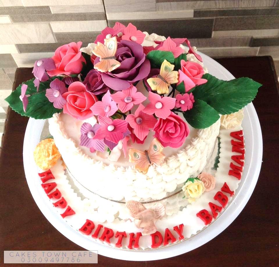 Floral Birthday Cake 5