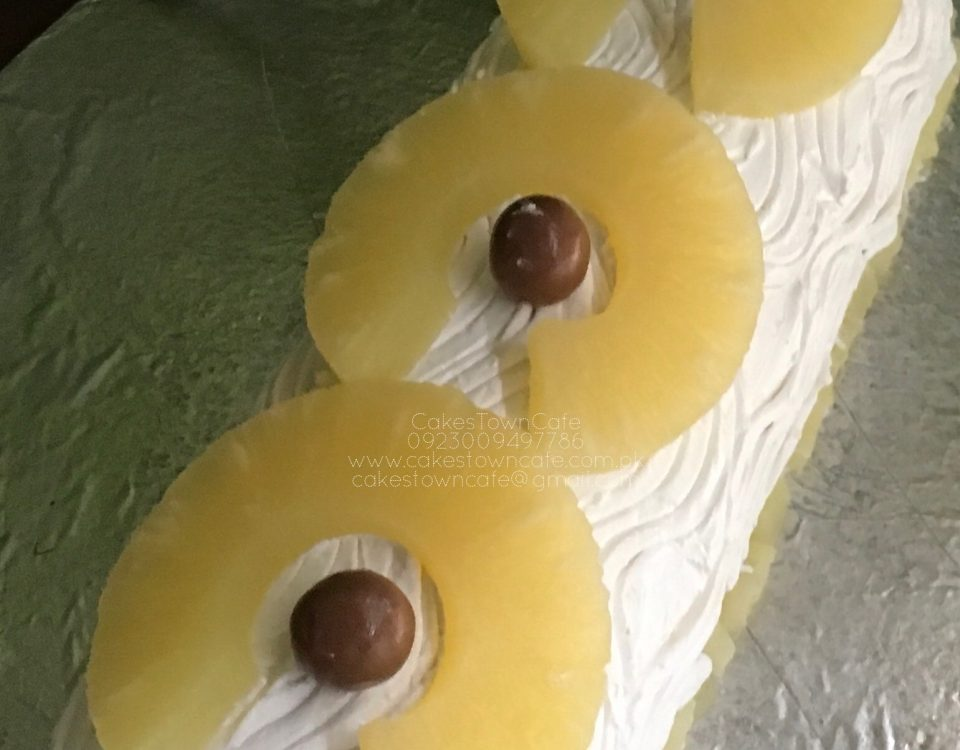 Pine Apple Log Cake