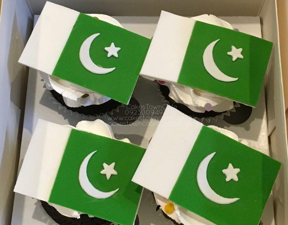 Pakistan Day Cupcakes 1
