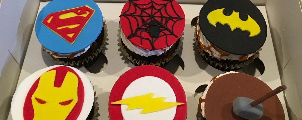 Super Hero Cupcakes 1