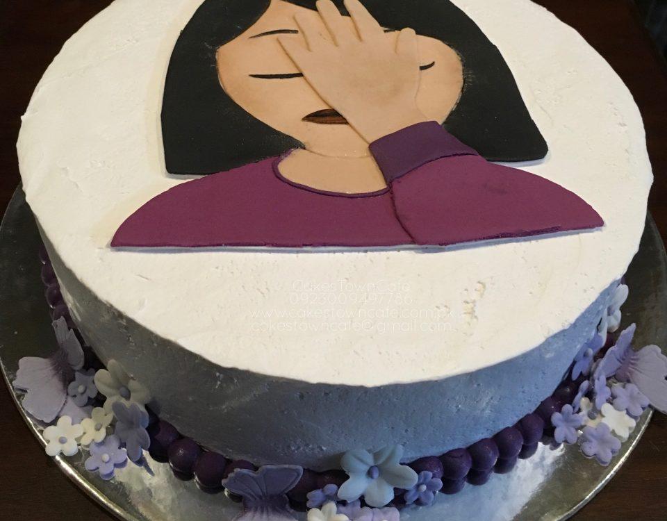Emoji SMH Cake 1