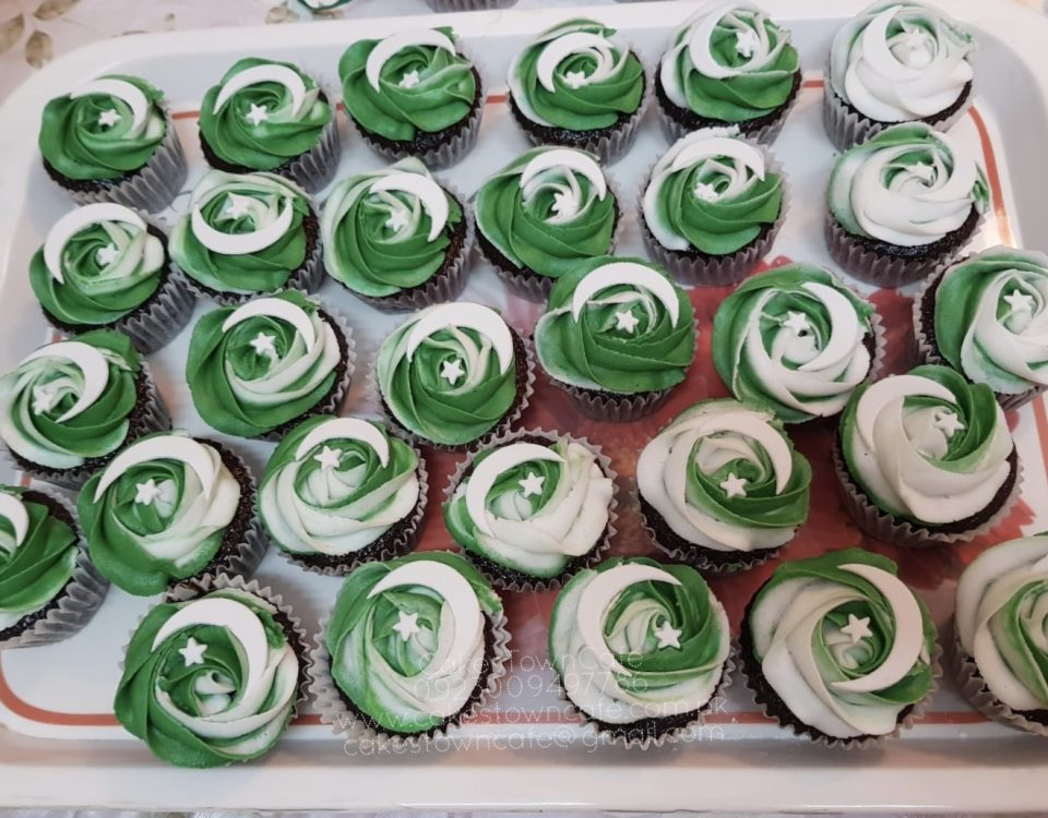 Pakistan Day Cupcakes 2