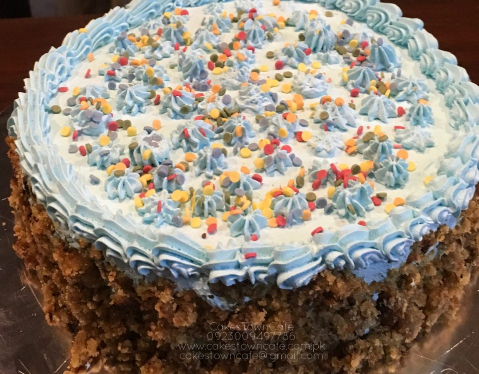 Cream Birthday Cake 25