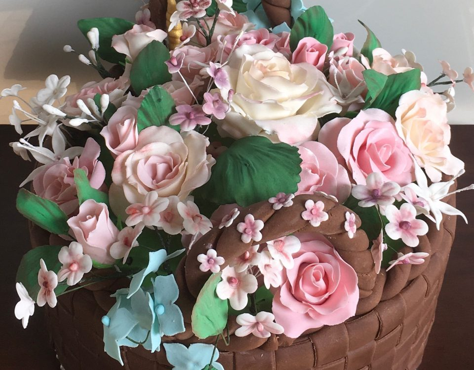 Flowers Basket Cake 1
