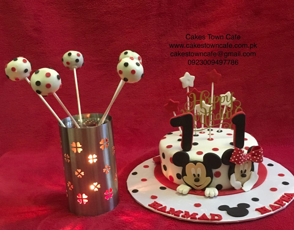 Mickey Mouse & Minnie Mouse Cake &Cakepops