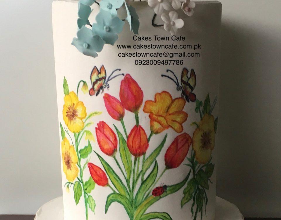 Hand Painted Cake 2